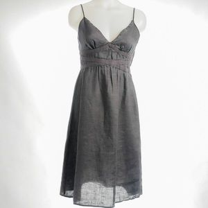 Mossimo Army Green 100% Linen Dress Size 8